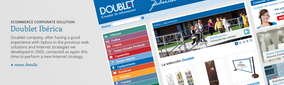 Ecommerce solution and online Web shop design for Doublet