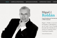 Personal website design of Miguel J Roldán